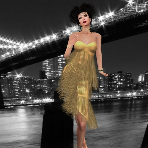 AsHmOoT_AW Coll_Alyssa_Hot Dress_Gold 1 by Orelana resident