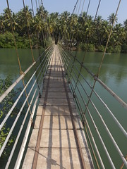 Hanging Bridge Hängebrücke Kemmannu Tonse Udupi District India