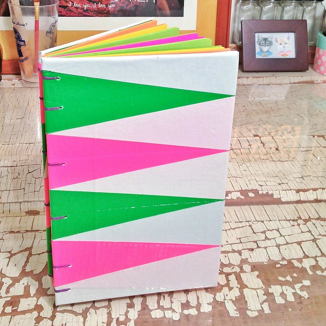 Custom Rainbow Journal with Duct Tape Covers