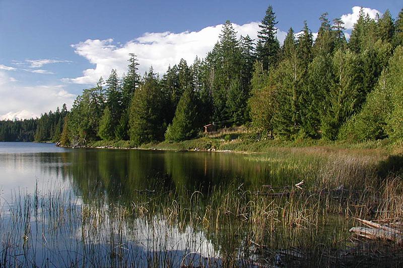 Hague Lake, Cortes Island, Discovery Islands, British Columbia, Canada