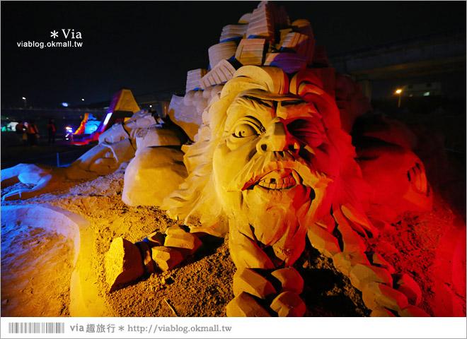 【2014台灣燈會在南投】南投沙雕燈會~夜間點燈好浪漫!還有精彩光雕秀8