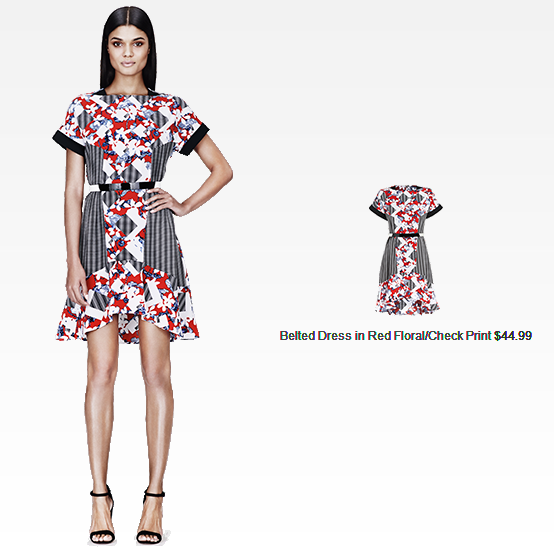 cute & little blog | #PeterPilottoforTarget | belted dress in red floral/check