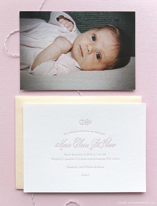 birth announcement // marie