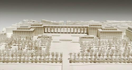 Maquette du projet des frères Perret pour le palais du Trocadéro à Paris