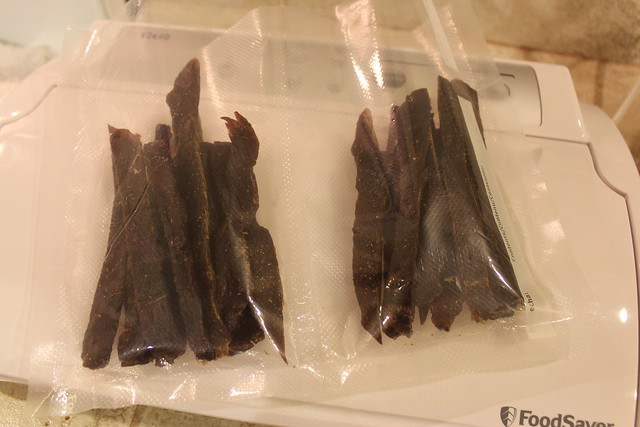 For long term storage, store beef jerky in Food Saver Bags
