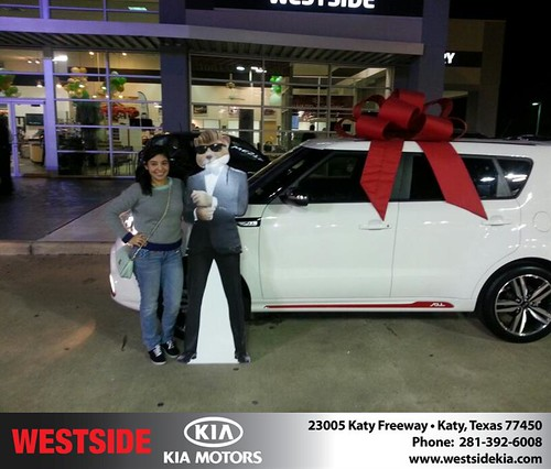 Thank you to Stephanie Hernandez on your new 2014 #Kia #Soul from Rubel Chowdhury and everyone at Westside Kia! #NewCar by Westside KIA