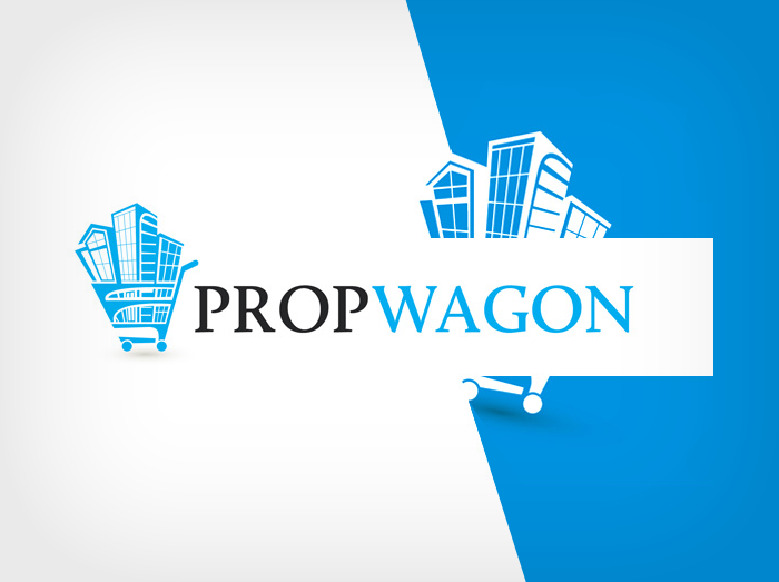 propwagon realty logo design