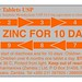 Small photo of Blister pack for Zinc adherence