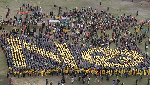 3月8日上萬反核民眾走上街頭