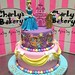Princess castle 2 tier cake