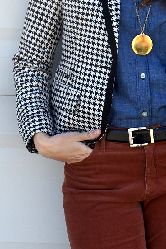 chambray + houndstooth Target Merona blazer