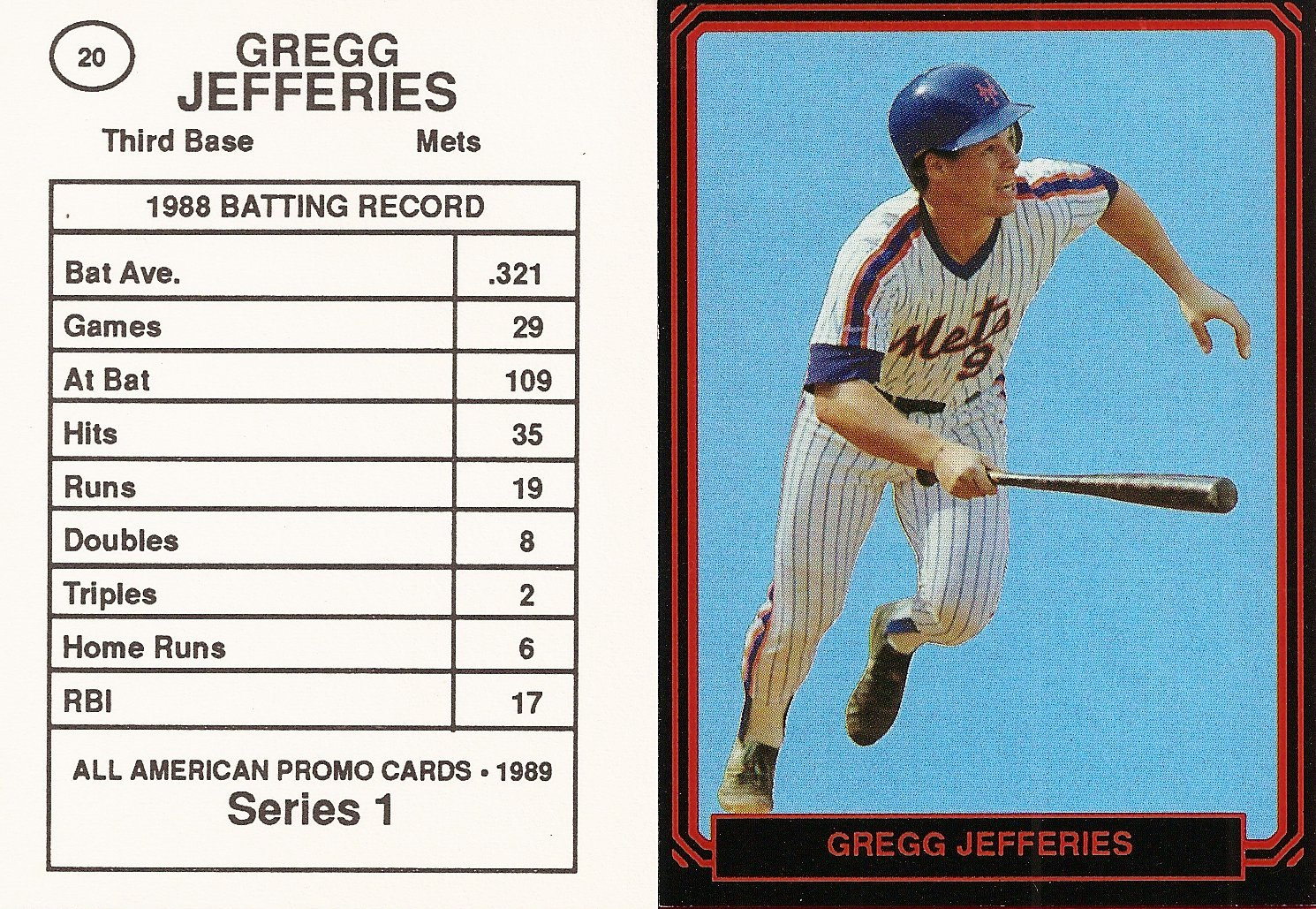 1989 All-American Promo Series 1