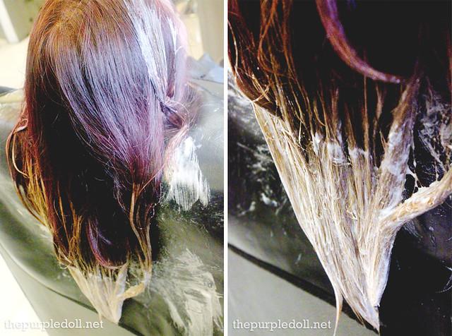 The Purple Doll Hair Bleaching at LPK Premier Salon