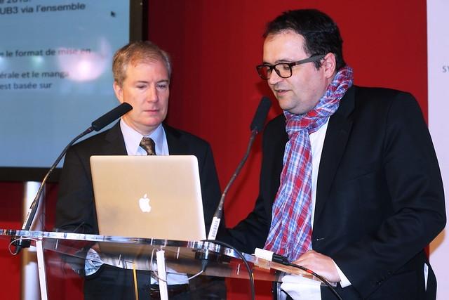 Bill McCoy (IDPF) et Pierre Danet (Directeur innovation et technologie, Hachette)