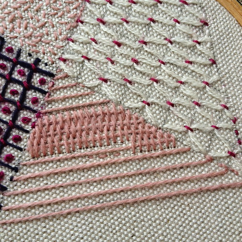 Crewel Sampler - Final Stitches