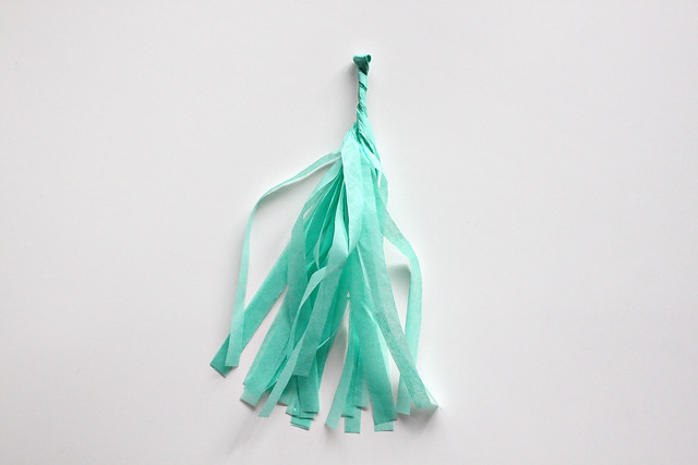 DIY Tissue Tassel Mobile