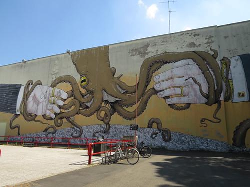 Mural by Blu & Erica il Cane