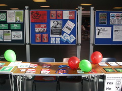 Labour for Independence stall at the University of Stirling, April 2014
