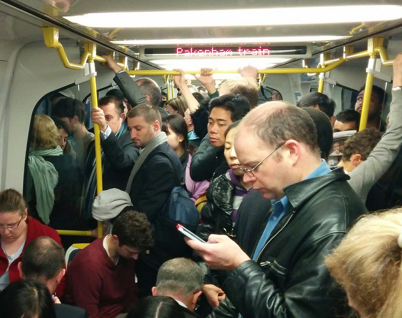 Another crowded train