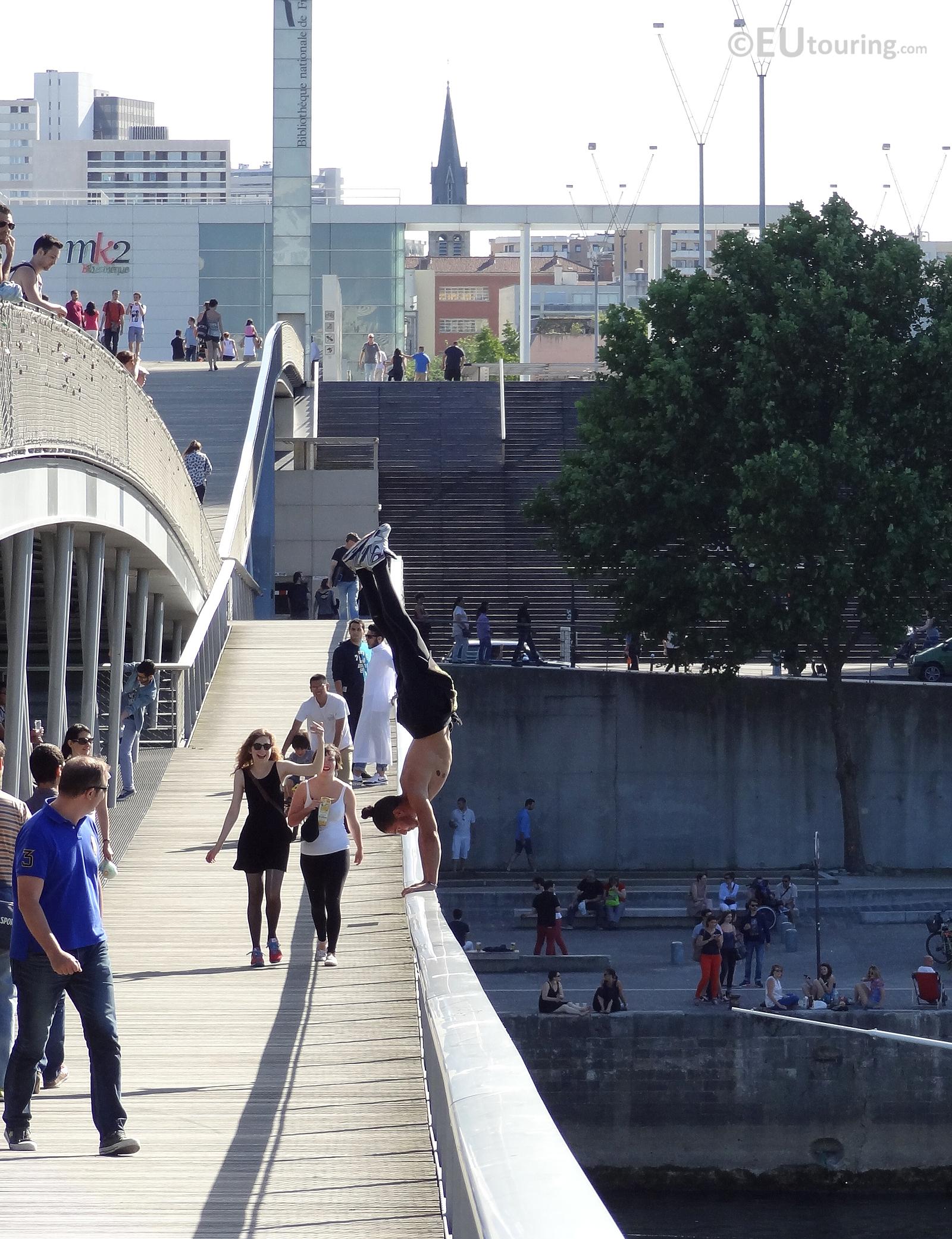 Handstands on the bridge