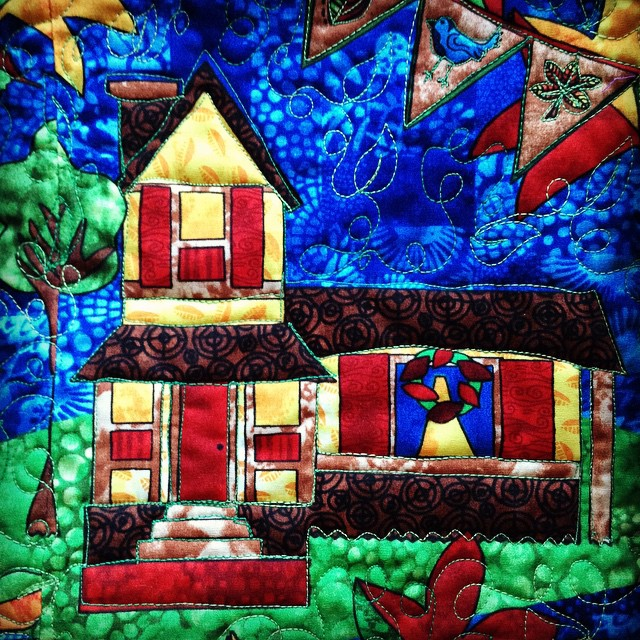 I love this house on @atwistedsister 's new fabric line for @hoffmanfabrics ! #fbp