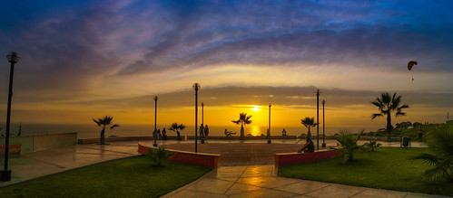 sunset red orange sun peru nature beautiful sunrise landscape pretty view lima gorgeous horizon miraflores peruvian