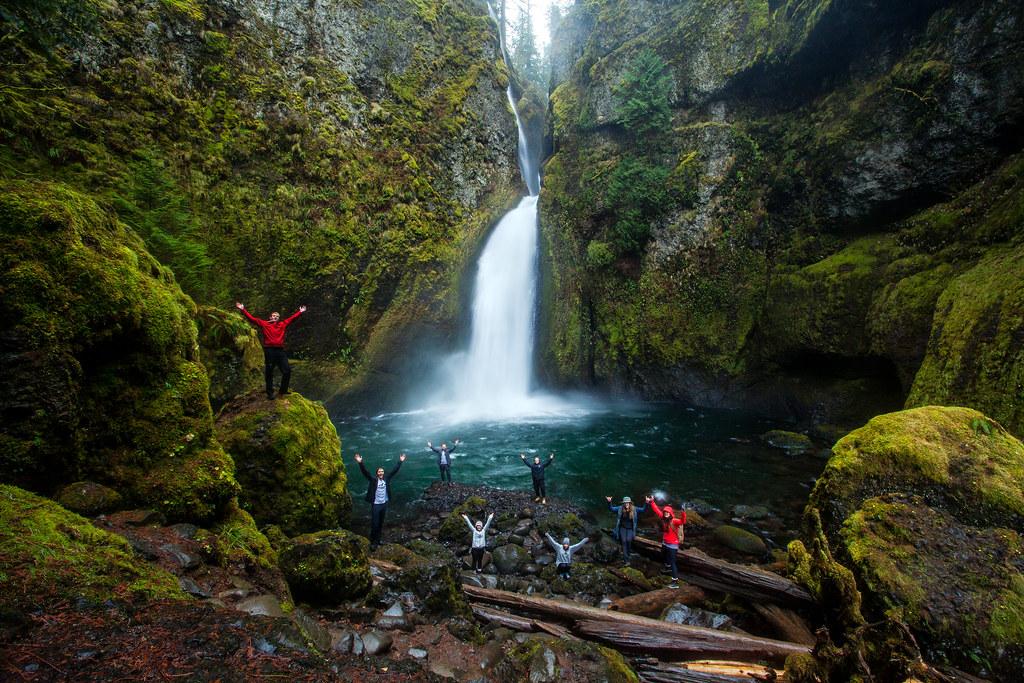 Wahclella Falls Group Photo by Michael Matti