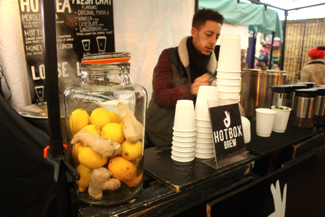 Tea stand at the Greenwich Market, Greenwich