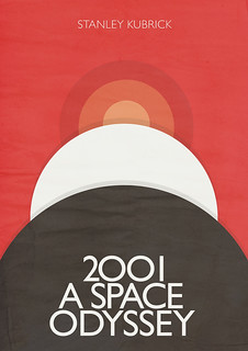 2001 a Space Odyssey - Red Poster