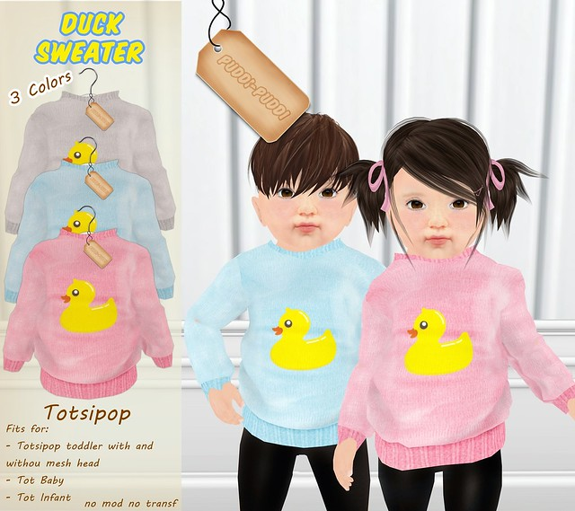 ::Puddi-Puddi:: Totsipop Duck Sweater