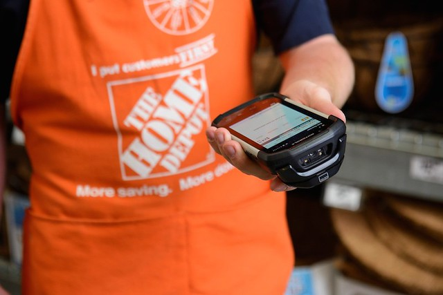 Home Depot staff will be using the next generation of its in-store mobile technology, the FIRST Phone