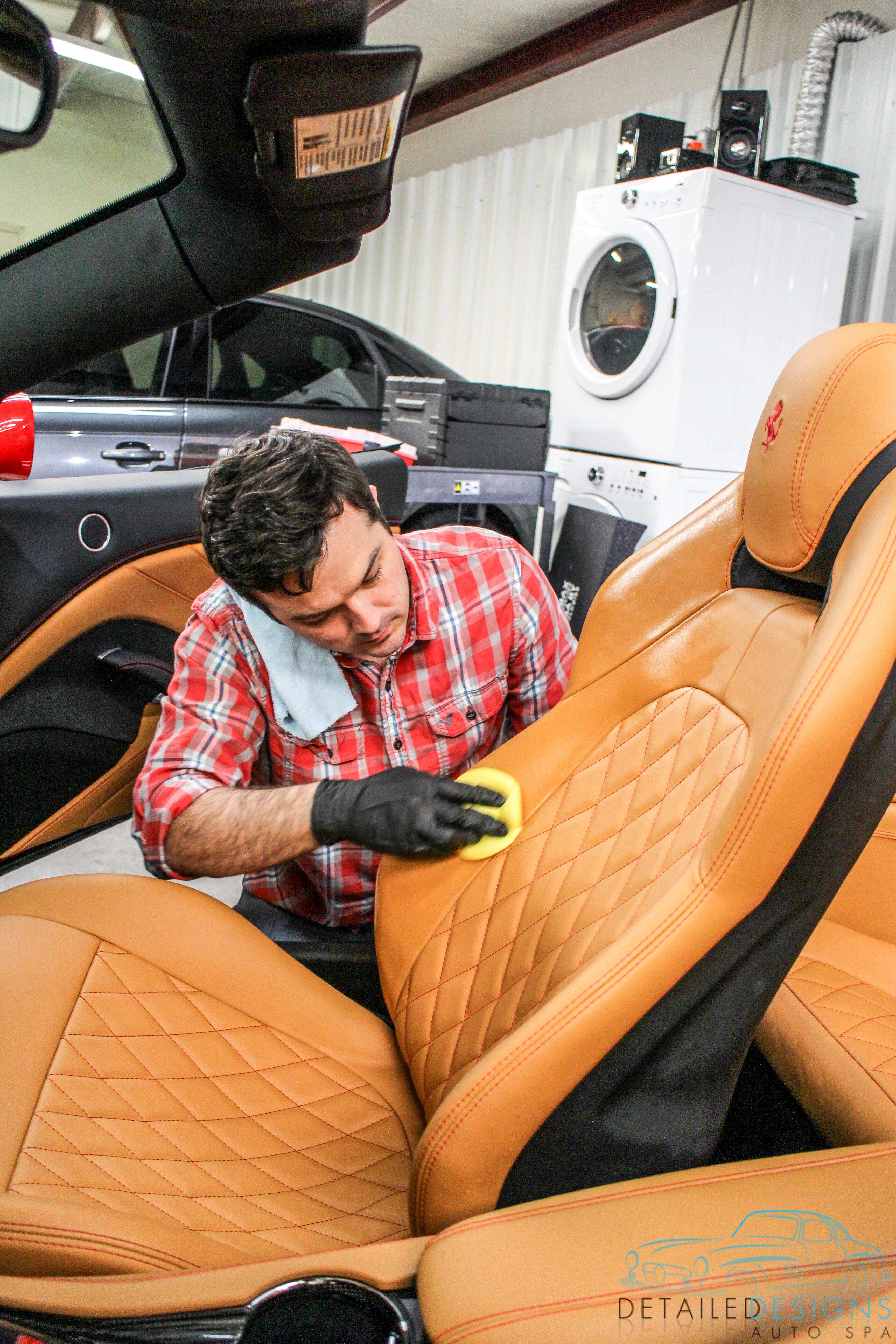 professional car detailing modesta for ferrari in atlanta. Black Bedroom Furniture Sets. Home Design Ideas