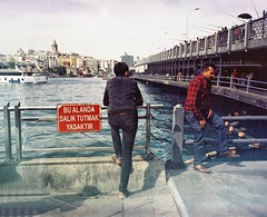 Fishing is forbidden here #streetphotography #color #colorfilm #analog #filmisnotdead #film #istanbul