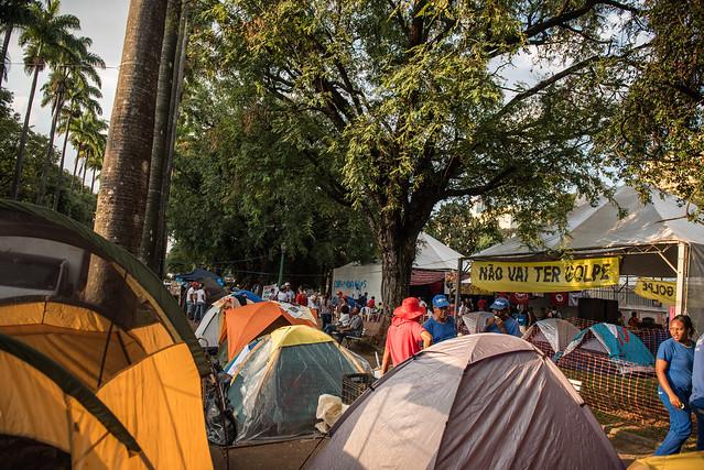 Em Belo Horizonte, o acampamento começou no dia primeiro de maio - Créditos:  Lidyane Ponciano