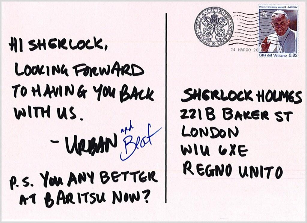 Vatican postcard back