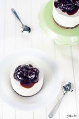 Cheesecake al mascarpone con fichi caramellati.