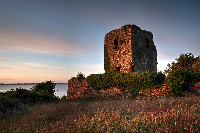 Beagh Castle in the setting sum