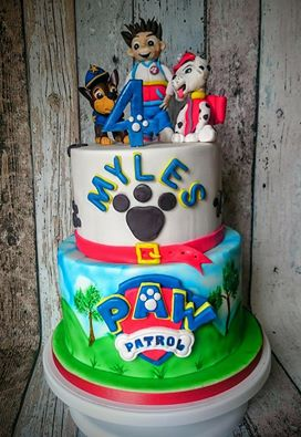 Paw Patrol Cake Hand Painted & Handmade Models by Denise Stone