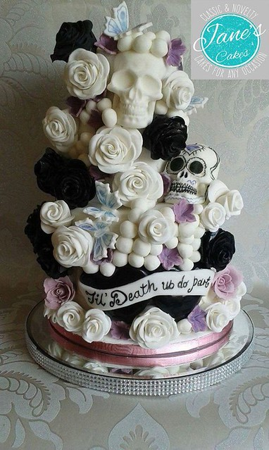 Till Death do Us Part Wedding Cake by Cakes by Jane