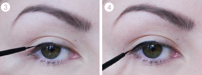 perfect cat eye liner liquid eyeliner tutorial 2