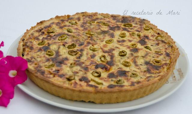 tarta de champiñón y queso