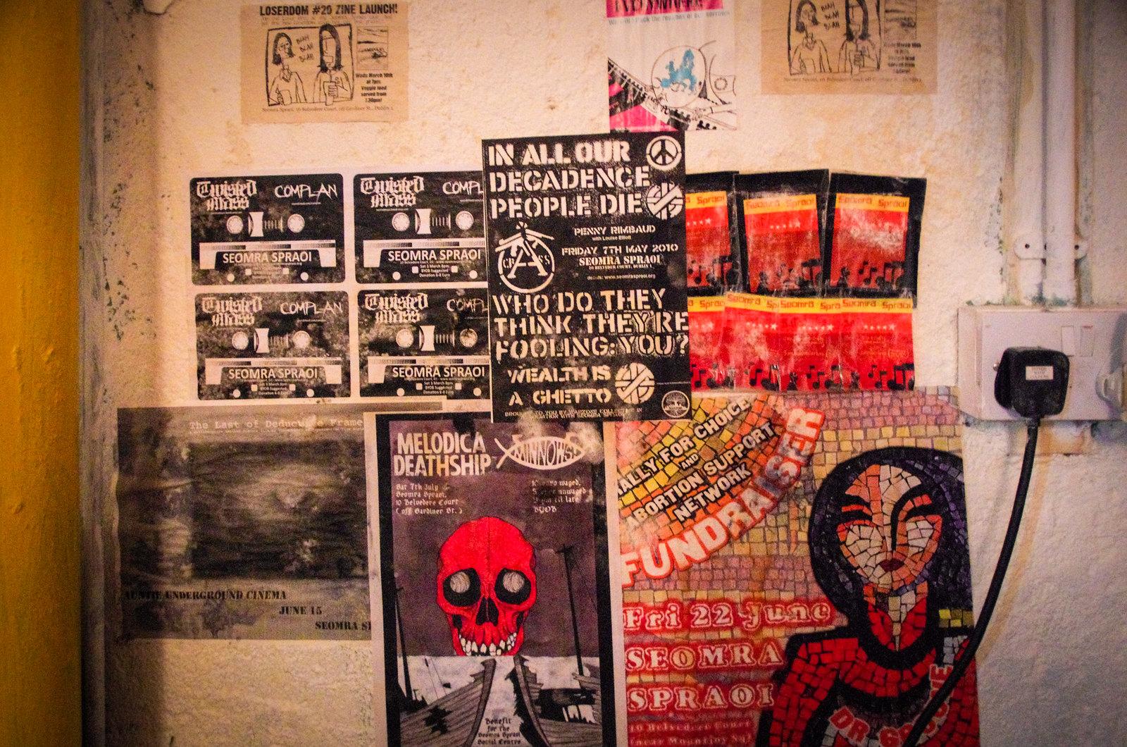 Dublin alternatif - Seomra Spraoi - Politics on the wall