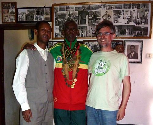 Con Wami Birratu en Addis Abeba