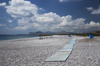 Obraz Traganou Beach w pobliżu Afántou.