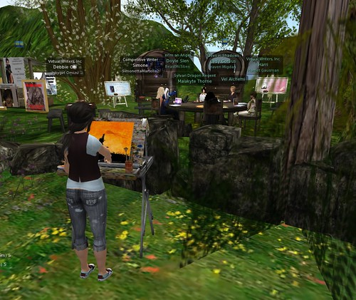 Virtual painting in a virtual world