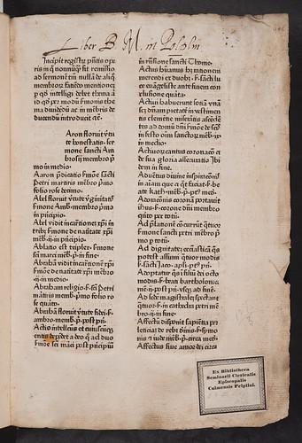 Monastic ownership inscription in Leonardus de Utino: Sermones de sanctis
