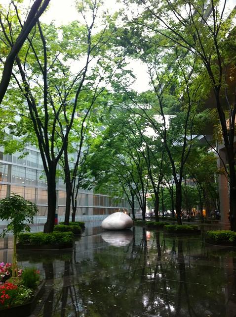 rainy Tokyo International Forum Center