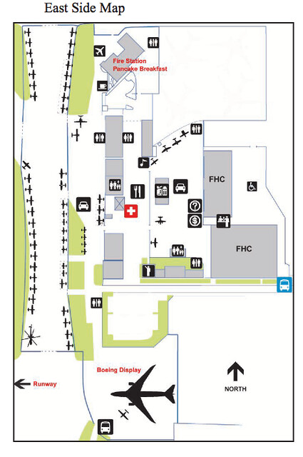 Paine Field Aviation Day Map West