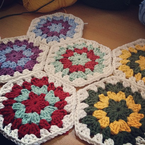 Looks like I've got a new project to pass the time. #crochet #hexagons #crafts