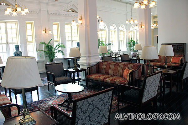 Lounge area on the third floor, just outside the presidential suites